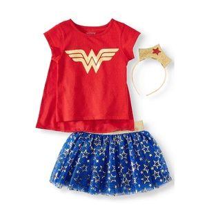 DC Toddler Girls Wonder Woman 3 Piece Set NEW!